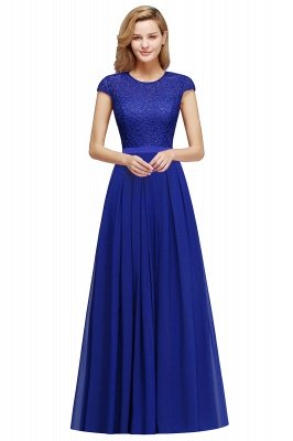 Adah | Günstige Dark Navy Rundhals Cap Sleeve Lace Formal Dress, Pink, Dunkelgrün_5