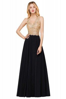 Великолепное бордовое вечернее платье без рукавов с v-образным вырезом | Дешевое Формальное Платье_6