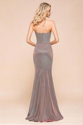 Elegant Strapless Belt Stormy Zipper up High Split Prom Dress_3