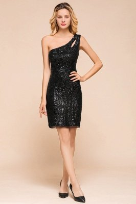 Arledge | Classic Black One-shoulder Key Hole Homecoming Dress