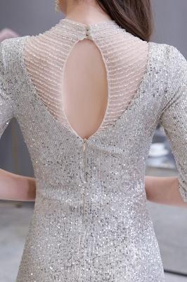 Lindo prata mangas compridas barato longo vestido de baile_7