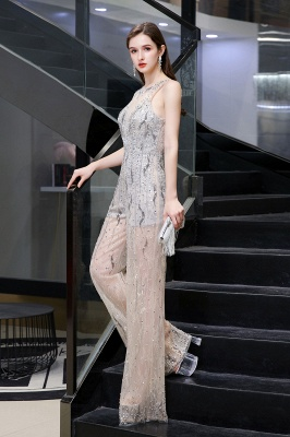 Sparkle Illusion High neck See-through Prom Jumpsuit_8