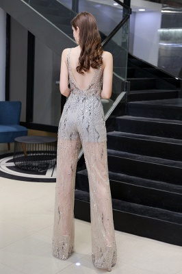 Sparkle Illusion High neck See-through Prom Jumpsuit_4