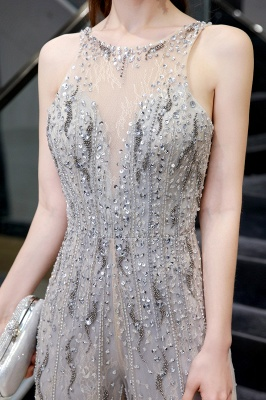 Sparkle Illusion High neck See-through Prom Jumpsuit_7