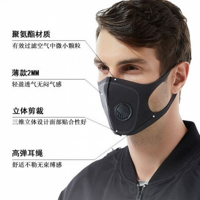 10*PCS Reused Face Masks Anti-Dust Indoor Adjustable & Reusable Protection 2 PM2.5 Filters Mouth Mask for Women Man_4