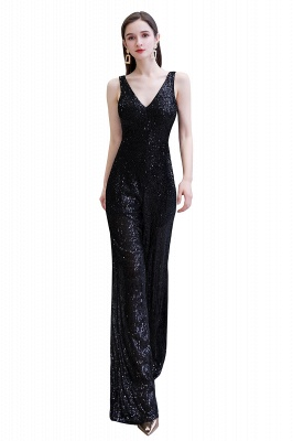 Sexy Shining V-neck Silver Sequin Sleeveless Prom Jumpsuit_28