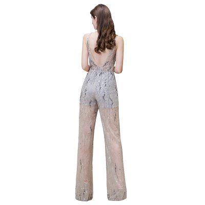 Sparkle Illusion High neck See-through Prom Jumpsuit_12