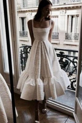 Robe de soirée princesse sans manches col rond blanche princesse_2