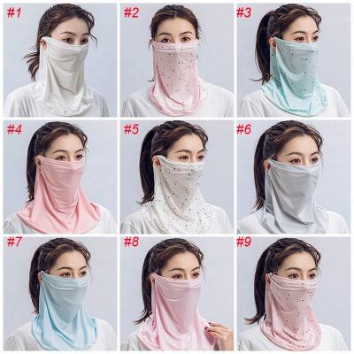Hot Sell Mundmaske Leichte Gesichtsmaske Schal Sonnenschutzmaske Reitmasken Outdoor Seidenschal Taschentuch