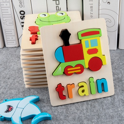 Children's Wooden Letter Alphabet Educational Puzzles Toys Alphabet Teaching Puzzles for 3-7 Kids Free Fast Shipping FY6029
