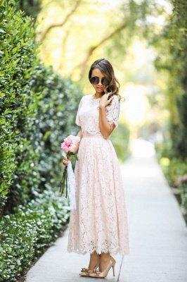 Manches courtes Princesse Longueur cheville Robes de bal d'été_2