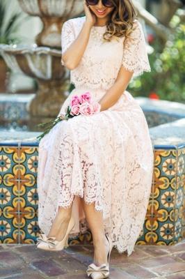Manches courtes Princesse Longueur cheville Robes de bal d'été_3