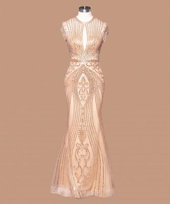 Robe de bal sirène noire de luxe recouverte de perles_3