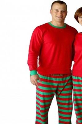 Подходящие семейные пижамы наборы рождественские пижамы с Рождеством оленей_4