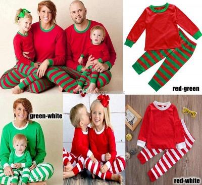 Conjuntos de pijamas familiares a juego Ropa de dormir navideña Reno de feliz Navidad_10