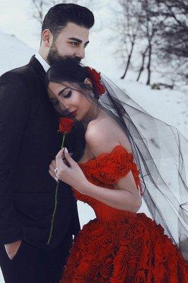 Robe de bal imprimée florale 3D à épaules dénudées pour robes de soirée fille_3