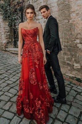 Sweetheart Floral Partten robe de soirée longueur de plancher robe de soirée en tulle_4