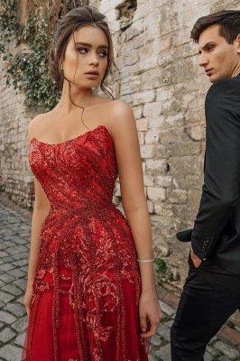 Sweetheart Floral Partten robe de soirée longueur de plancher robe de soirée en tulle_3