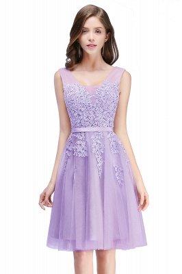 ADDILYNN | Платье выпускного вечера из тюля длиной до колена с аппликациями_5