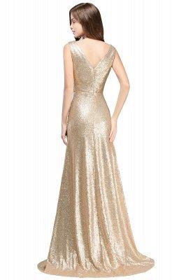 ELSA   A-line Sleeveless Floor-length V-neck Sequins Prom Dresses_1