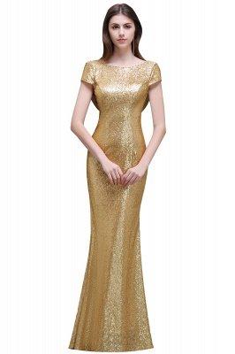 Frauen Sparkly Rose Gold Lange Pailletten Brautjungfer Kleider Prom / Abendkleider_1