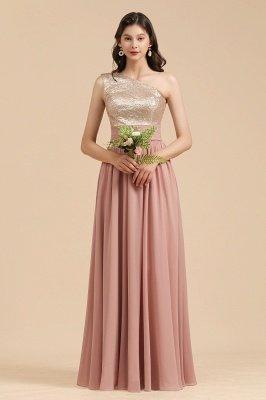 Стильное шифоновое вечернее платье на одно плечо с блестками и пайетками Aline_7