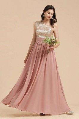 Стильное шифоновое вечернее платье на одно плечо с блестками и пайетками Aline_5