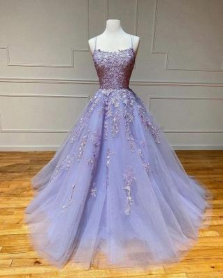 Vestido de noite Aline com alças de espaguete floral vestido de noite vestido de baile sem mangas_4