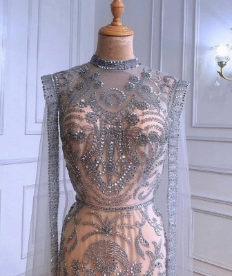 Роскошное блестящее вечернее платье с пайетками и бусинами, длинное вечернее платье с длинным рукавом_3