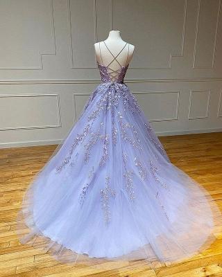 Vestido de noite Aline com alças de espaguete floral vestido de noite vestido de baile sem mangas_6