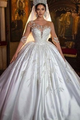 Magnifique robe de mariée robe de bal Aline florale chérie