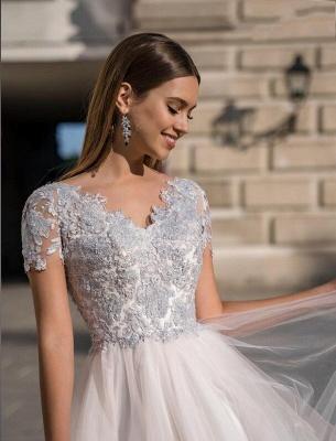 Stylish Cap Sleeves Tulle Short Formal Dress Daily Wear Midi Dress_3