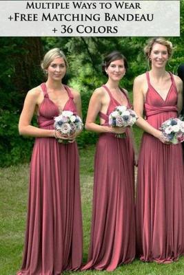 Multiway Ways Bridesmaid Dress Aline Wedding Party Dress_1