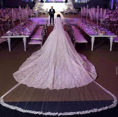 Гламурное бальное платье Aline с открытыми плечами и соборным шлейфом_3