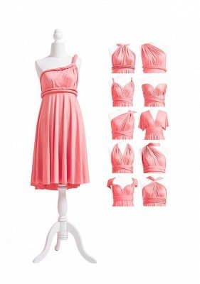 Coral Pink Multiway Infinity Dress_5
