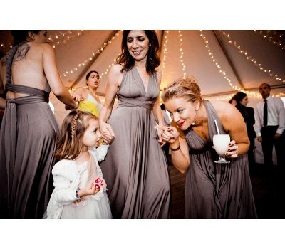 Taupe Infinity Bridesmaid Dress In   53 Colors_3