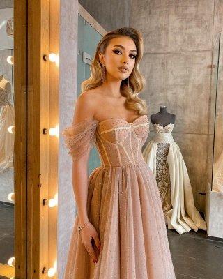 Boho lantejoulas brilhantes vestido maxi de tule macio para festa sexy sem encosto espinha de peixe vestidos de noite para mulheres_5