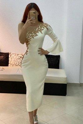 One Ruffle Shoulder Slim Daily Casual Dress Prom Dress Aknle Length Evening Dress