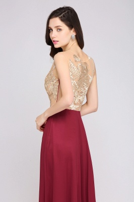 Elegant Burgundy Evening Dress