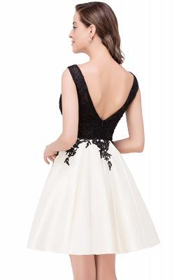 EVA | A-line Sleeveless Lace Appliques Short Prom Dresses_7