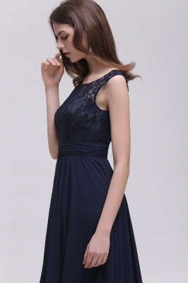 AUDRINA | A-ligne Scoop en mousseline de soie robe de bal avec dentelle_5