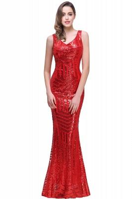 EVERLEIGH | Mermaid V-neck Sleeveless Floor-Length Sequins Prom Dresses_1