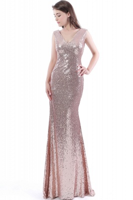 DAKOTA | Mermaid Floor Length V-Neck Long Sequins Prom Dresses_4