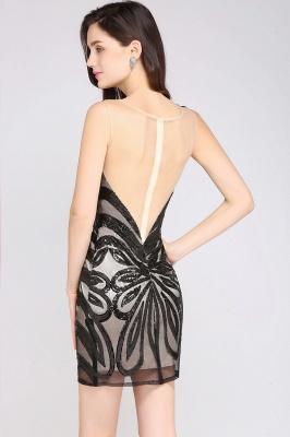 AMALIA | Sheath Short Black Sexy Cocktail Dresses_4