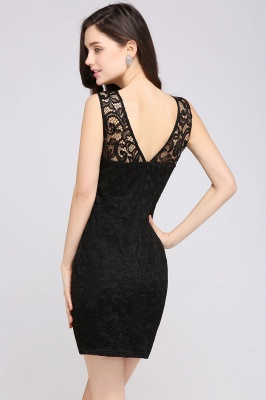 ARYA | Sheath Scoop Black Lace Homecoming Dresses_4