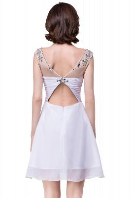 AITANA | A-line Jewel Chiffon Party Dress With  Crystal_7