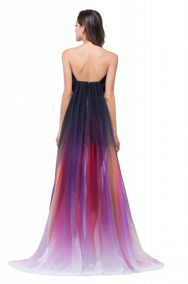 ELISABETH | A-line Floor-length Strapless Tulle Prom Dresses with Sash_3