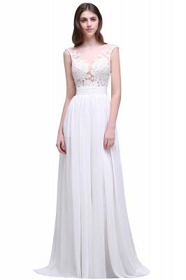 ALANI | Sheath Sheer Chiffon Beach Wedding Dresses With Lace_1