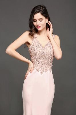ALLYSON   Sirène v-cou perle rose robes de bal avec des perles_5