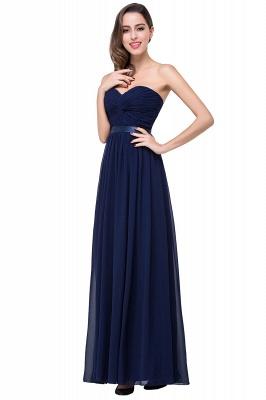 Elegantes A-Linie Chiffon Brautjungfer Kleid | Schulterfrei Brautjungfernkleider Bodenlang_7